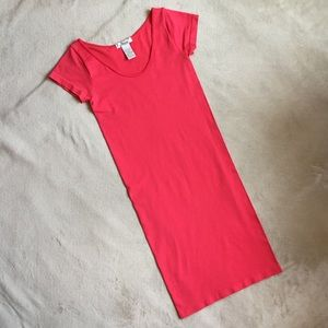 Coral Bodycon Dress